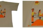 Les Dunes d'espoir :: T Shirt avec dessin réalisé par les enfants
